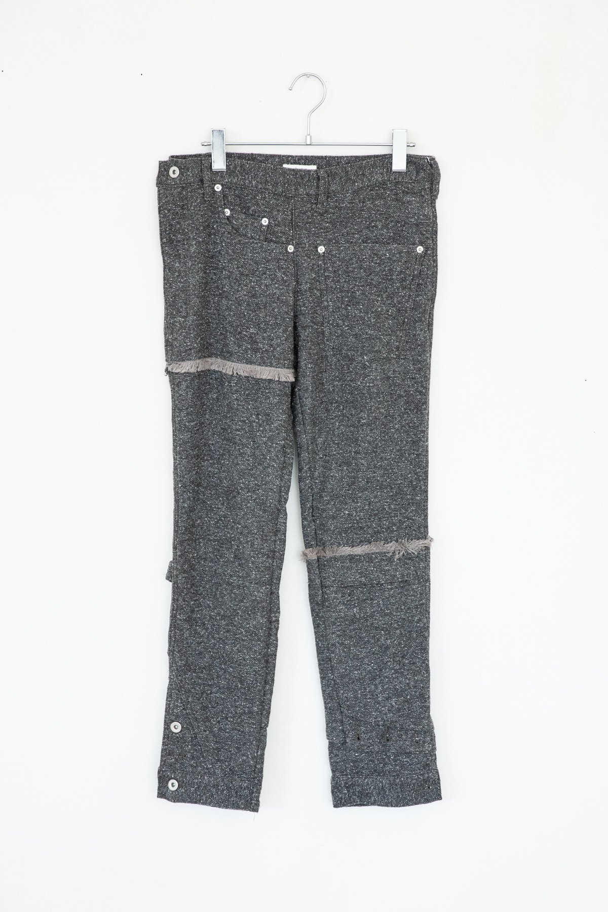 whowhat / PAZZLE DENIM CHARCOAL WHITE NEP