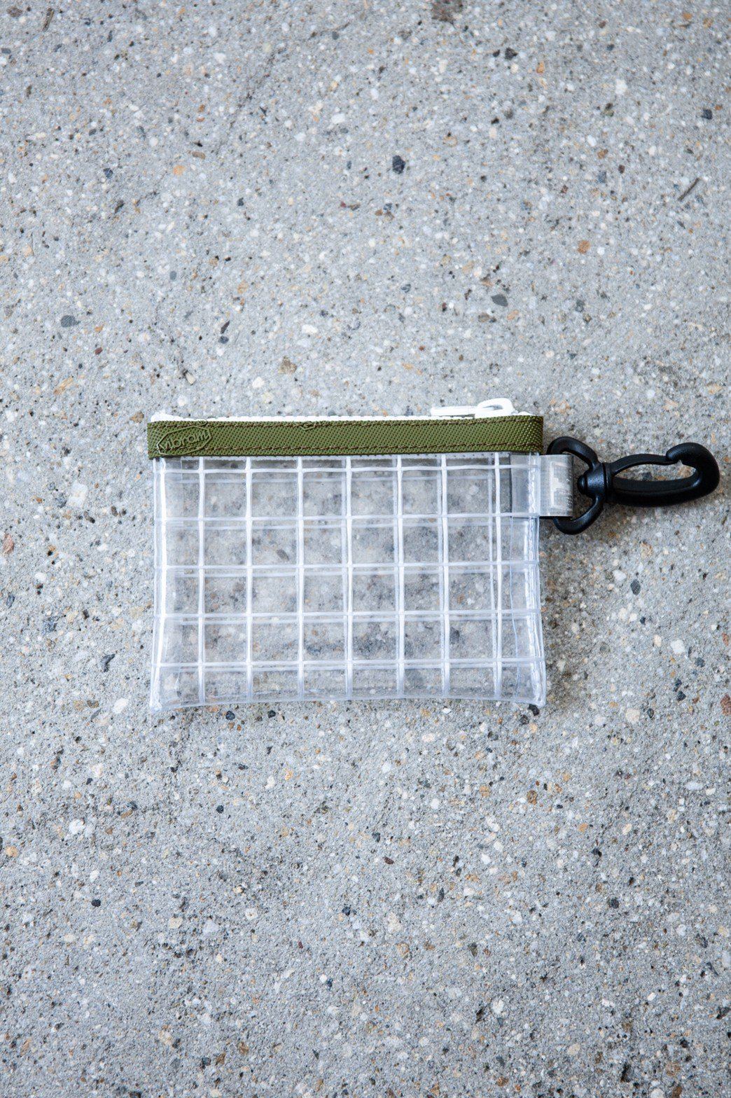 THISWAY / PVC COIN CASE OLIVE