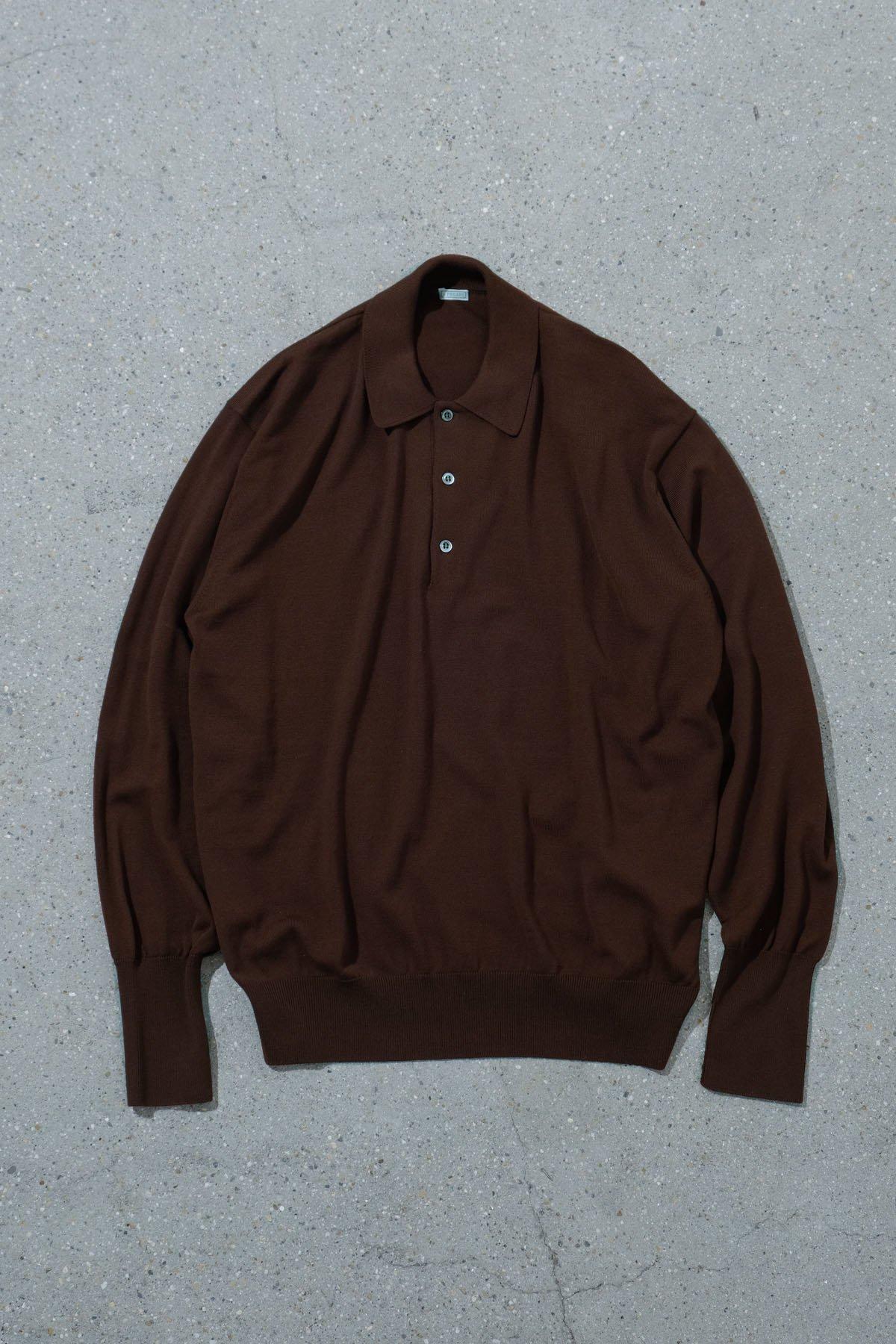 A.PRESSE / LONG SLEEVE Knit Polo Shirt