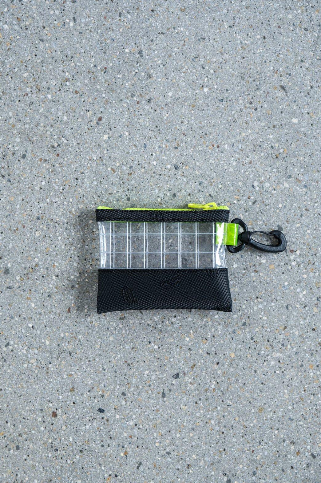 THISWAY / VIBRAM PVC COIN CASE BLK × YEL
