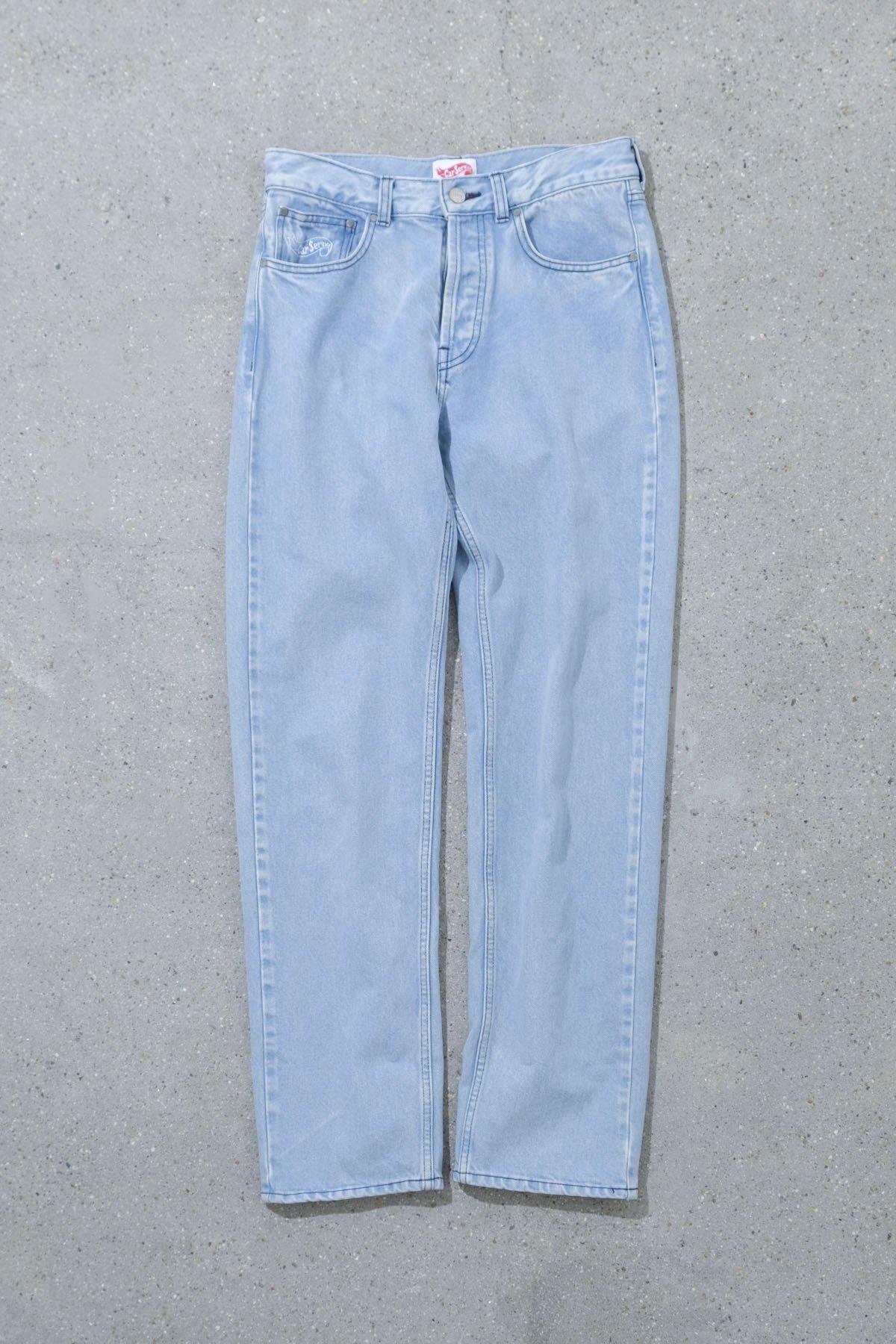Carservice / Logo Washed Denim Pants
