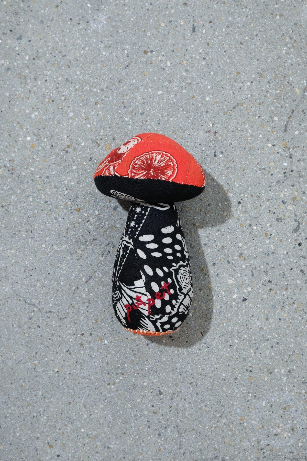 One Ear Brand / Putpet Bandanna Doll Mushroom 2