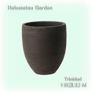 トリニダード12(黒土 M) [陶器製プランター]