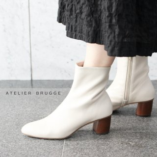 ATELIER BRUGGE<br>21PS-63 / アーモンドトゥショートブーツ