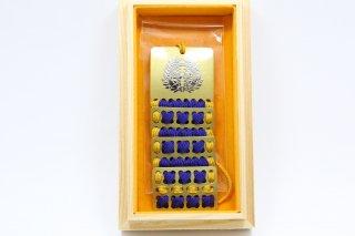 戦国甲冑護符ストラップ 伊達政宗 (金青)