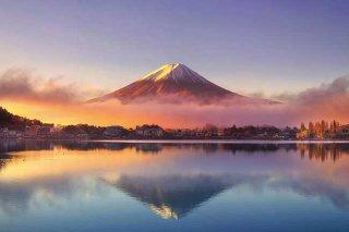 朝霧と鏡富士(あさぎりとかがみふじ)
