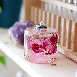 FLOWERiUM®︎ candle lamp pink purple