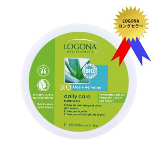 <ロゴナロングセラー>一年中使える、ご家族みんなのマルチな保湿クリーム【ロゴナ デイリー・スキンクリーム<アロエ&バーベナ>】[顔・全身用保湿クリーム]