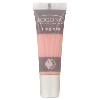 艶やかで魅惑的な唇に【ロゴナ リップグロス 02ローズ】02ローズはクリアに近い薄づきのパステルピンク。濃い色の口紅に重ねてやわらかい印象に。