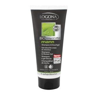 髪と全身を乾燥から守りながらやさしく洗い上げます。爽やかな香りが人気のメンズコスメ【ロゴナ メンズ・シャンプー&シャワージェル 】[男性用シャンプー&ボディ洗浄料]
