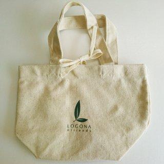 <直営オンラインストア限定品>ご近所へのお買い物に、ランチに♪【LOGONA&friends オリジナル・ミニトートバッグ】ロゴナ&フレンズロゴ入りミニトート♪プレゼントにも喜ばれます。[ミニトート]