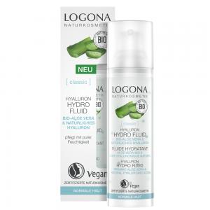 化粧水とセラム(美容液)の2in1【ロゴナ ハイドロフリュイド<アロエヴェラ>】馴染みの良いジェル美容液で、ハリ・弾力のある、輝くお肌へ。[ノーマル肌・敏感肌用保湿美容液]
