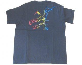 Tシャツ 東京島 黒 M