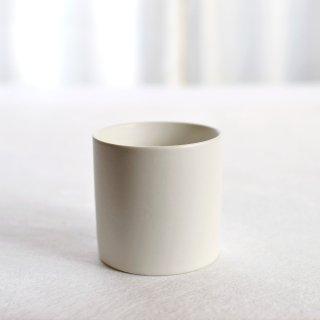 碗 円柱 白マット「萬古焼」