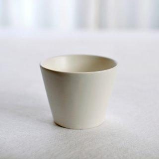 碗 円錐 白マットM「萬古焼」