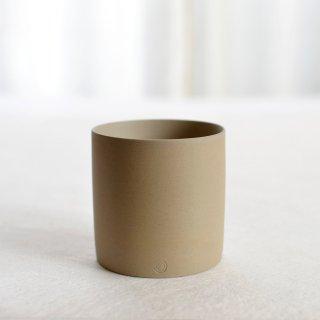 碗 円柱 白「萬古焼」