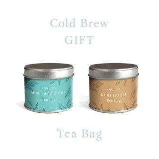 本格ティーバッグギフト【11】水出し煎茶&焙じ茶TB茶缶入り