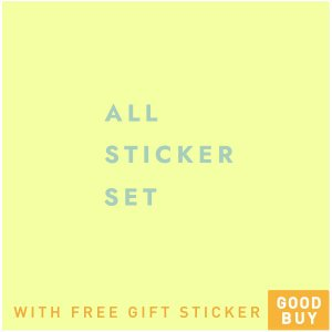 <img class='new_mark_img1' src='https://img.shop-pro.jp/img/new/icons57.gif' style='border:none;display:inline;margin:0px;padding:0px;width:auto;' /> Sticker Set with Free Gift