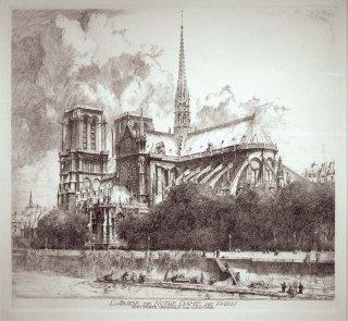 L'ABSIDE DE NOTRE DAME DE PARIS