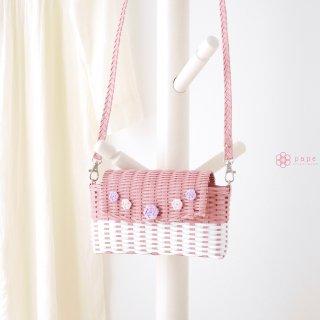 ときめき色のフタ付きスマホ用ポシェット*ピンク【受注生産】