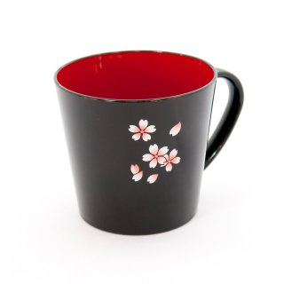 会津ぬり マグカップ 「会津桜」