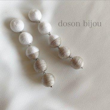 bonbon white pierce earring