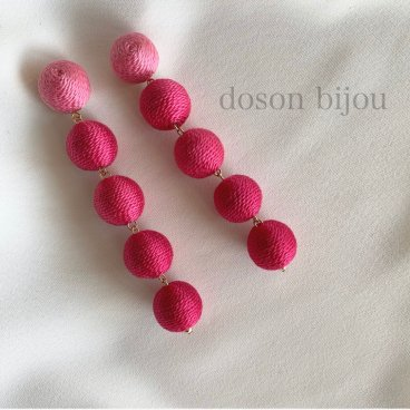 bonbon pink pierce earring
