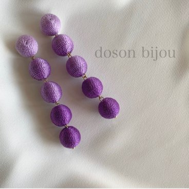 bonbon purple pierce earring