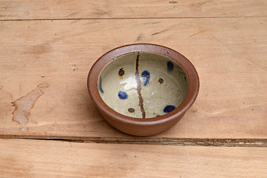 山田真萬 フチ焼締小鉢