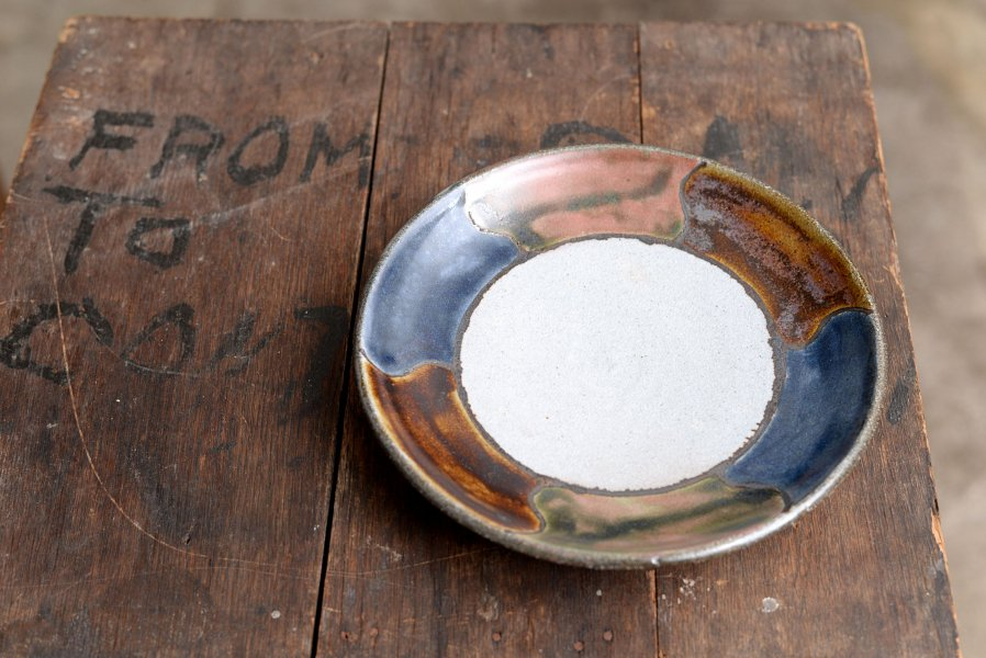 カミナリ窯 7寸皿