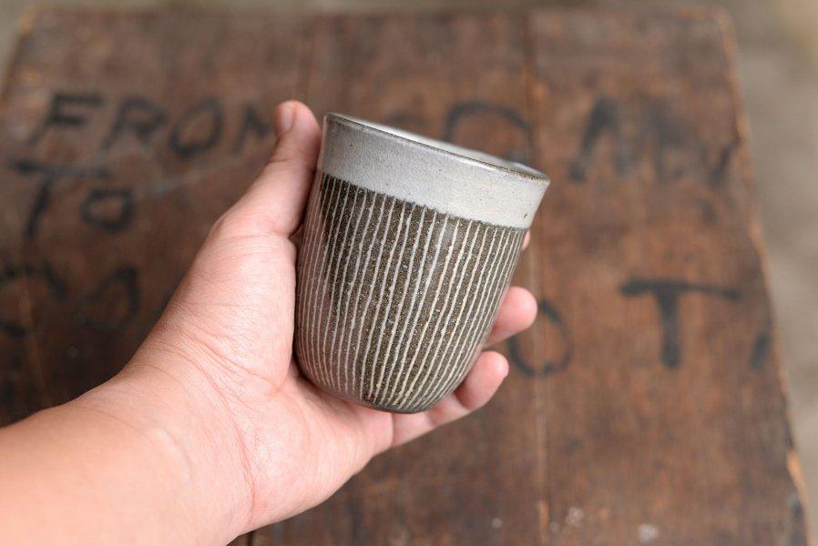カミナリ窯 象嵌カップ
