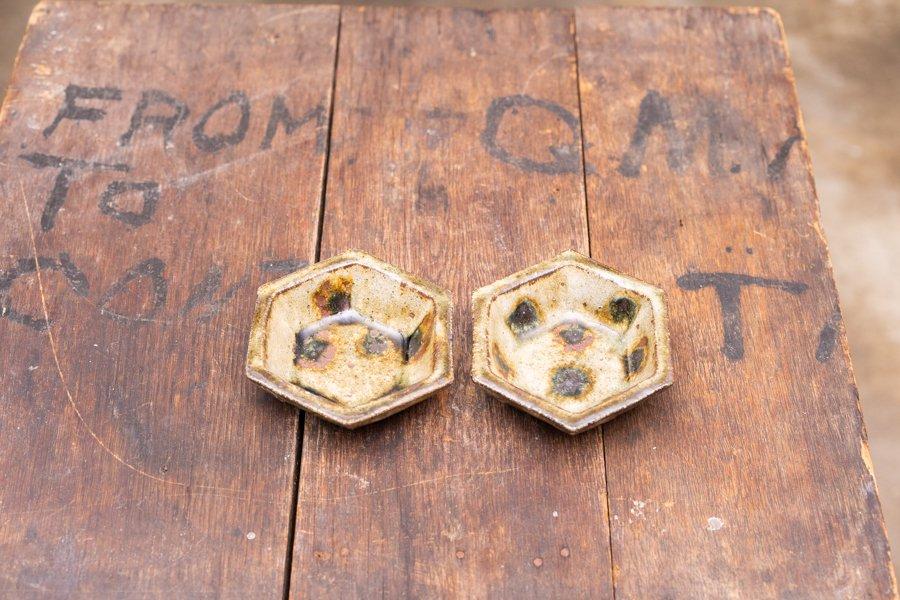 ソロソロ窯 六角鉢