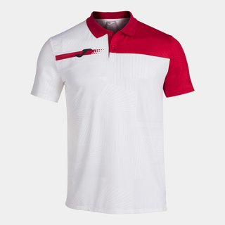 ゲームシャツ POLO「TORNEO」  WHITE-RED
