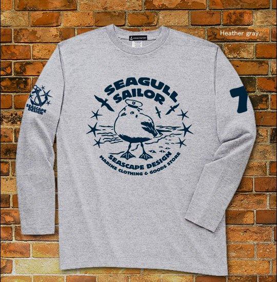 Seagull Sailor マリン長袖Tシャツ / ユリカモメをモチーフにした、ファニーで、爽やかなマリンテイストデザイン。3種類から選べる!