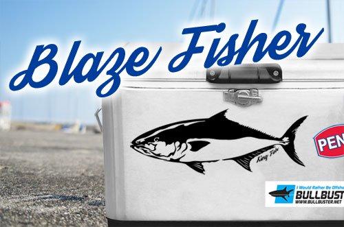 BLAZE FISHER フィッシングカッティングステッカー / シャープなタッチで人気の釣り魚をクールにデザイン、10魚種から選べる!