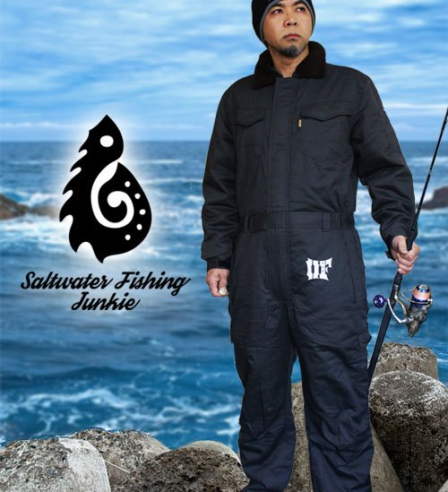 BLAZE FISHER 防寒フィッシングオーバーオール/4L / 中綿入りで保温性バツグンの防寒オーバーオールに、人気のBLAZE FISHERシリーズをプリント!