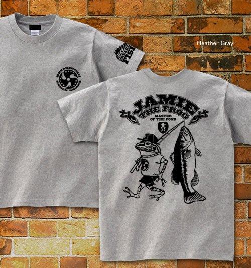 JAMIE THE FROG バスフィッシングTシャツ / カエルがバス釣りをするコミカルなデザイン、5種類のデザインから選べる!