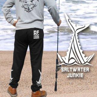 SALTWATER JUNKIE フィッシング スウェットパンツ / 両裾にスタイリッシュなプリントを施したオールシーズン仕様のスウェットパンツ
