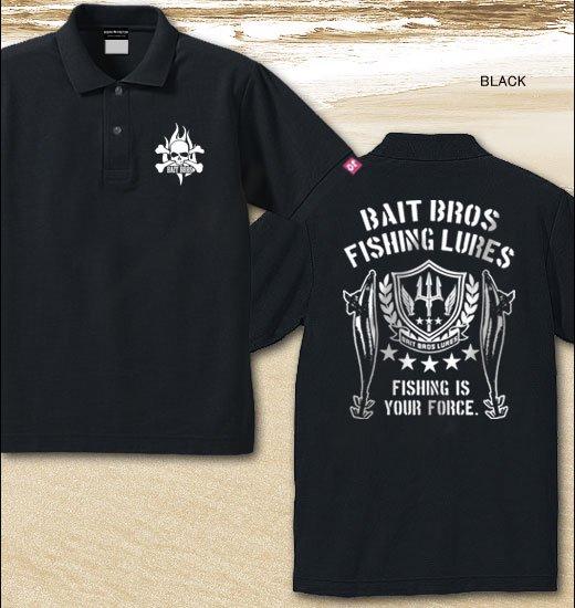 BAIT BROS ALPHA フィッシングポロシャツ / ミリタリーテイストでスタイリッシュにルアーをデザイン。8種類から選べる!