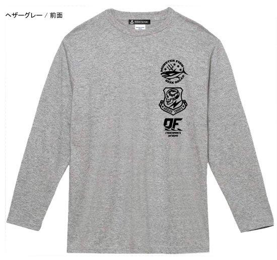 スカルアングラー フィッシング長袖Tシャツ / スタイリッシュなスカル柄のプリントを施した、ミリタリーテイストデザイン!
