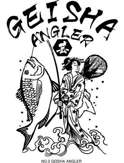 UKIYO-E ANGLER フィッシングパーカー / 浮世絵調のクールなイラストで、釣りの世界を再現。3種類から選べる!