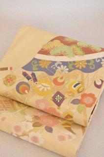 袋帯「桃山花傘紋」