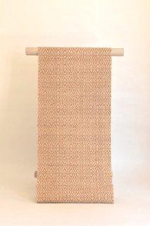 北川弘繪制作八寸名古屋帯手紡ぎ木綿「紋織」