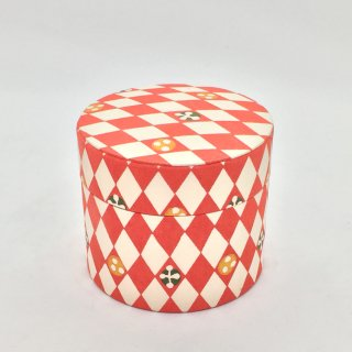 鈴木松風堂 入れ子ボックス 小サイズ「菱形 赤色」