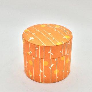 鈴木松風堂 入れ子ボックス 小サイズ「やなぎ縞 オレンジ色」