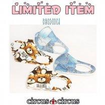 涼感マスク ToyBear&Denim(フリーサイズ・抗菌フィルター入り)/サーカスサーカス