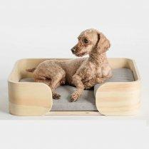 ペットベッド 木製レクタングル型/ピダン