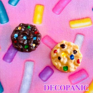 【A203】カラフルクッキー デコパーツ