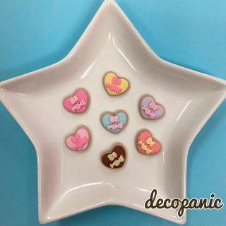 【B218】デコパニでしか買えない【BE MINE】クッキーハーツ★オリジナルパーツ