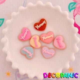 【B221】デコパニでしか買えない【yummy】クッキーハーツ★オリジナルパーツ